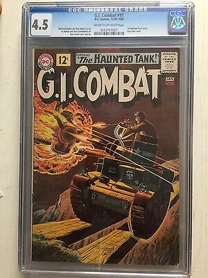 G.I. Combat #91 (Apr-May 1961, DC) CGC 4.5 1ST HAUNTED TANK COVER