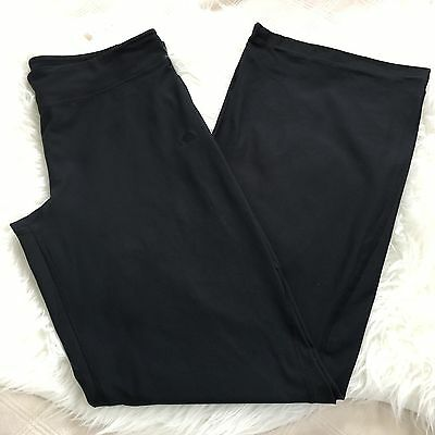 Adidas Boot Tight Leggings Full Length Climate Women's Size L Black Small Pocket
