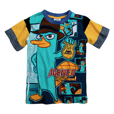 Agent P T-Shirt  Boys Cotton Summer Tee Boy Top 4-6 years