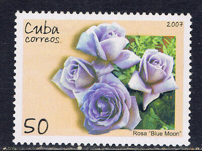 CaribbeanCuba #4756(1) 2007 50 cent ROSES - FRAGRANT CLOUD MNH