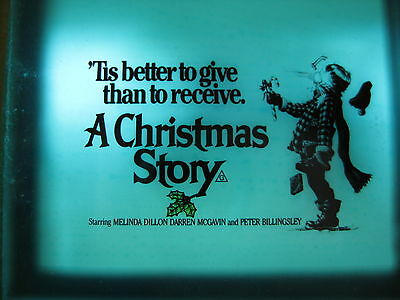 A CHRISTMAS STORY 1983 Original Australian cinema movie projector glass slide