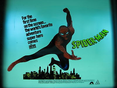 SPIDERMAN 1977 Orig Australian cinema movie projector glass slide superhero
