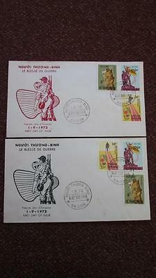 South Vietnam FDC Wounded Soldier 1972, Lot of 2