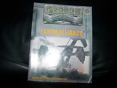 GROPOS Earth Alliance Sourcebook MAXIM BATTLE SYSTEM Compatible BABYLON 5 Wars !