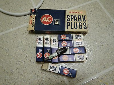 GM AC Acniter II Spark Plugs NOS Lot of 8