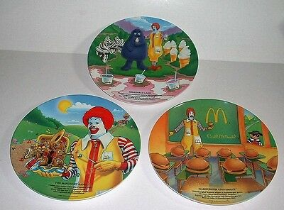 15 McDonald Collector's  Plates 1977 and 1989