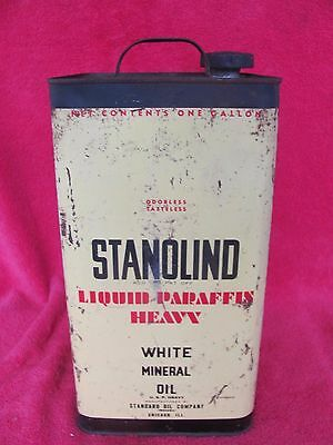 SOCO Vintage 1 Gallon Standard Oil Co. Stanolind Tin Advertising Can Sign & Cap