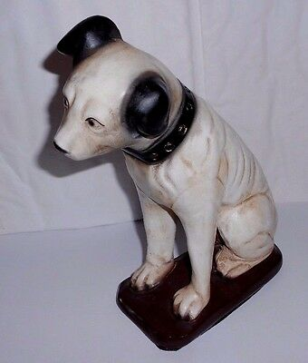 Vtg RCA Victor Nipper Dog Statue Advertising Victrola Phonograph Mascot Figure