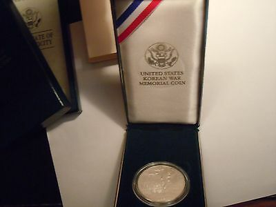 1991 Proof Korean War $1 Silver Commemorative Dollar with CoA and OGP
