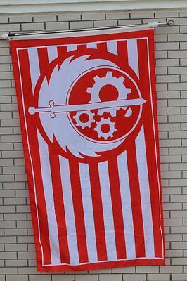 New California Brotherhood of Steel Red Fallout 4 Flag 3x5FT
