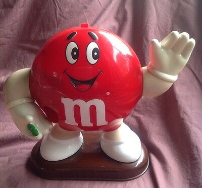 RED M&M's MAN DISPENSER vintage 1992 candy ADVERTISING  m and m COLLECTABLE TOY