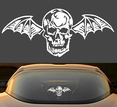 "9"" Avenged Sevenfold A7X Death Bat Metal Band 7 Year Vinyl Decal Sticker"