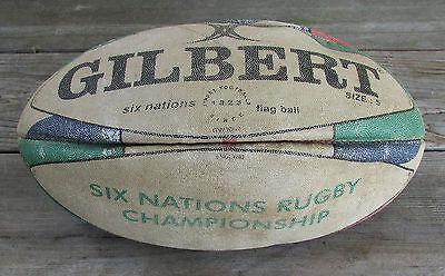 Vintage SIX NATIONS RUGBY Championship Flag Ball - GILBERT