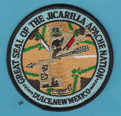 New Mexico  GREAT SEAL OF THE JICARILLA APACHE NATION. Tribal  Patch