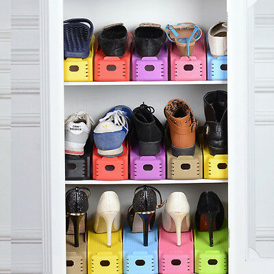 5 Colors Plastic Shoe Racks Modern Double Cleaning Storage Shoebox Stand Shelf