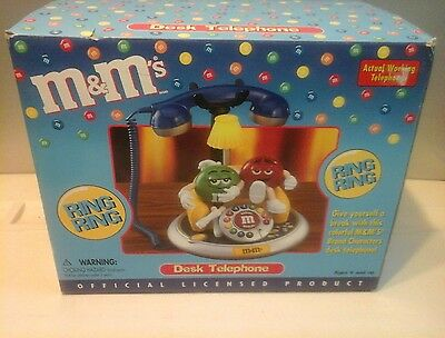 New M&M's Green & Red Character Desk Phone Telephone - New in box