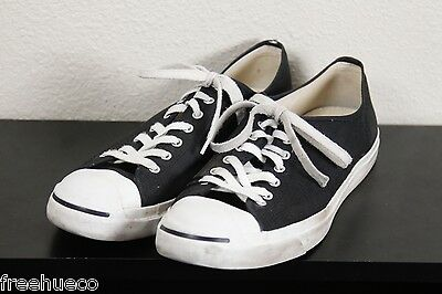 CONVERSE Jack Purcell Low-Top Sneakers Casual Shoes -Black/White -Men's US 15