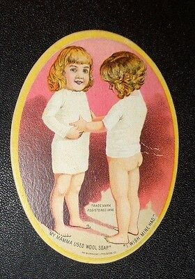 graphic Victorian trade card advertising Wool Soap