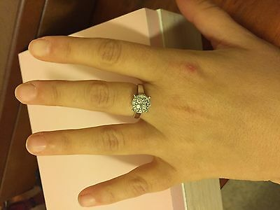 Michael Hill 10ct white gold 0.5ct diamond cluster dress ring