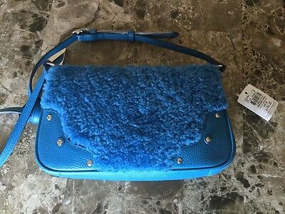 NWT Authentic Leather and fur Coach crossbody bag
