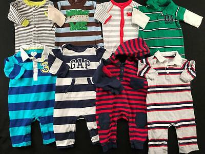 Baby Boys 3, 3/6 Months Carters  Fall Sets Romper Outfit Clothes Lot B73