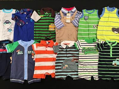 Baby Boys Newborn 0/3 Months Carters Summer Sets Outfit Clothes Lot B140