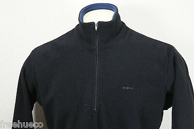 PATAGONIA Expedition Weight Capilene Zipneck Long Sleeve Shirt -Black -Large