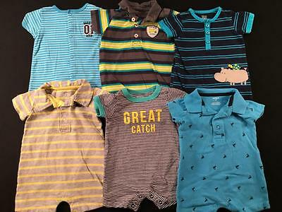 Baby Boys 3 Months All Carters Summer Romper Outfit Clothes Lot B57