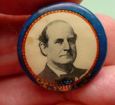 Mc KINLEY  CELLO PINBACK W/FLAG SHIELD 22MM NICE ONE SPOT OF FOXING <>#6775