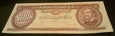 Hungary 100 Forint 1984 Banknote