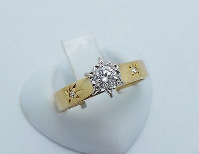 18Ct Yellow Gold Brilliant Cut Diamond Engagement Dress Ring Valued At $1713