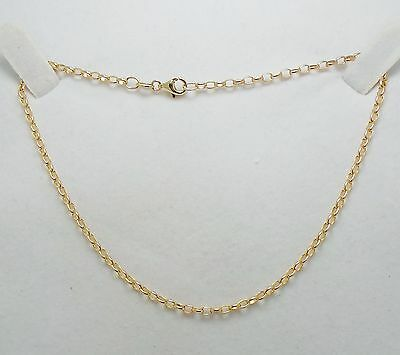 10ct YELLOW GOLD OVAL BELCHER ANKLET - 29CM