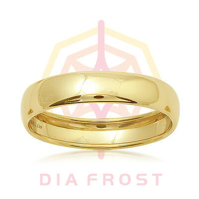 10K White & Yellow Gold Solid Plain Wedding Engagement Band Ring Mens & Womens