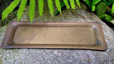 Antique MARSHALL FIELDS & CO ART METAL CRAFT Arts and Crafts Movement BRASS TRAY