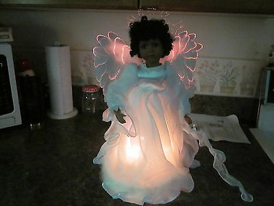 Fibre Optic Heirloom Porcelain Angel 18""