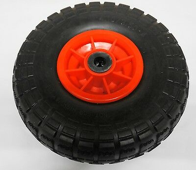 "10"" Trolley Wheel SOLID Puncture Proof 16mm  Centre Plastic Rim 4.10 / 3.50-4"