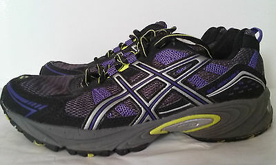 ASICS Women's GEL VENTURE 4 Running Shoes Purple/Black Size 7 T383N