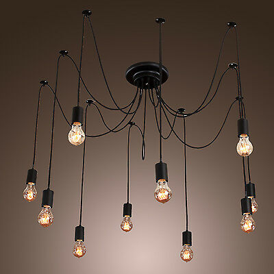 Chandelier Ceiling Pendant Light Modern Elegant Hanging Fixture lighting 10Lamps