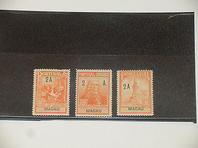 1925 Macau Macao M.D.Pombal Tax Stamps. MH.
