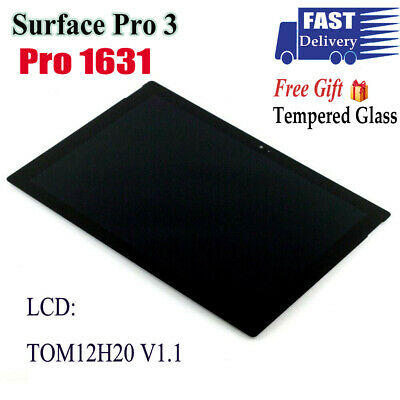 For Microsoft Surface Pro 3 1631 TOM12H20 V1.1 LCD touch screen digitizer+Tools