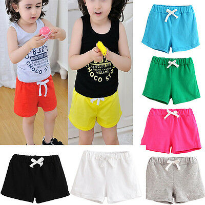 Summer Children Cotton Shorts Boys Girl Kids Clothes Baby Fashion Casual Pants