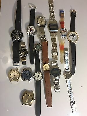 Junk Lot Mens-women's Jewelry Watches Vintage For Parts/repair(JK3)as Is