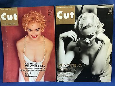 Lot of 2 MADONNA Cover CUT Japan Magazine Book September 1991 + January 1993 F/S