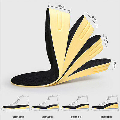 Men & Women Insole Air Cushion Heel insert Increase Height Tall Lift Shoe Pad