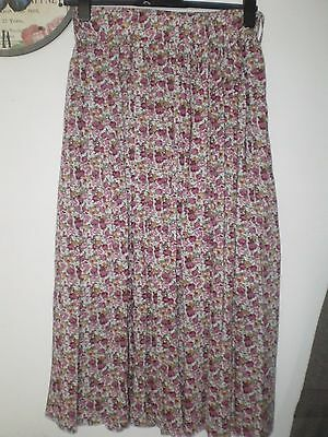 Womens Multi Floral Long Skirt Size 12 New Look