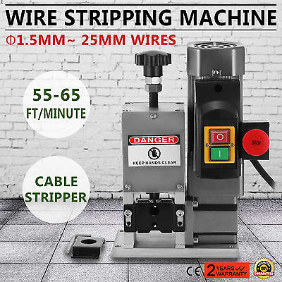 Powered Electric Wire Stripping Machine 1.5-25mm Portable Peeling Industrial