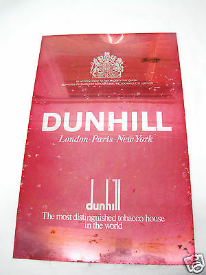 Old Authentic Vintage 60's Advertising Tobacco Dunhill Cigarette Tin Shop Sign
