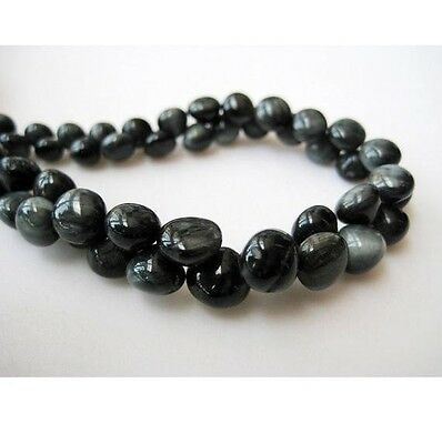 Cats Eye Beads Black Cats Eye Onion Briolette Beads 5-8mm Each 60 Pcs 9 Inches