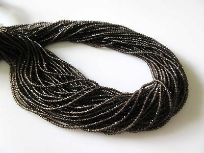 5 Strands 2mm Natural Smoky Quartz Faceted Round Rondelle Beads 13 Inches GDS497