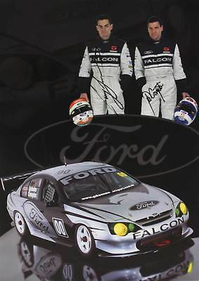 Craig Lowndes Neil Crompton Signed Poster Ford AU Falcon Green Eyed Monster